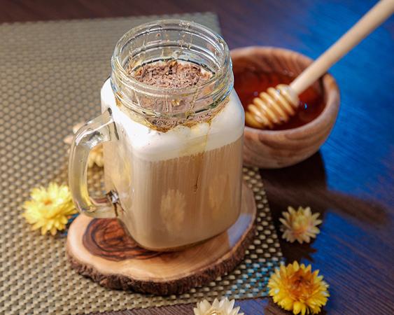 نوشیدنی شکلات و زعفران